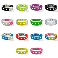 Wholesale Jibbitz Silicone Wristbands Bracelets Shoe charms decorate your bands Mixed colors CM CM for your choice Gift