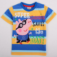 Boy Summer Yes NEW 2013 baby boys clothing autumn-summer children t shirts clothing short sleeve t-shirts peppa pig boys baby shirts C4401#
