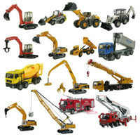 5-7 Years Bus Metal Kaidi Wei alloy construction vehicles excavators construction crane fire truck model toy car three shipping