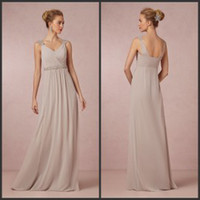 Cheap Reference Images Mother of the Groom Dress Best V-Neck Chiffon Bridesmaid Dresses