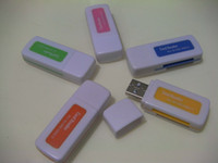 Wholesale Multifunctional card reader Memory Card Readers usb TF SDHC SD RS MMC MMCmobile MMC Plus MS Duo