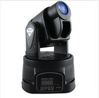 Wholesale pc W Mini DMX Led Lamp RGB Moving Head Lights Spot Lighting For Club DJ KTV Party DMX Controller Stage Lights