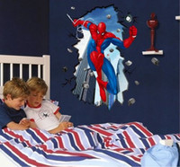 Wholesale Details about Super Hero Spider Man Mural Wall Sticker DIY Art Vinyl Decal Kids Boy Room Decor