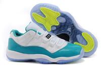 Wholesale Super Perfect Version Air Retro XI Low GS Aqua Safari Snake Skin Women s Basketball Sport Footwear Sneakers Shoes