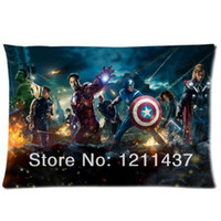Eco Friendly best hotel bedding - Marvel Comics Avengers Custom Rectangle Cushion Cover Soft Bed Pillow Case X inch Two sides Best Gift Throw Pillowslip