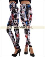 Leggings Skinny,Slim Washed 2014 New Summer European And Americas Fashion Newspaper Printing Casual Trousers Milk Silk Leggings Slim Nine Minutes Pants Pencil Pants