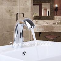 auto faucet sensor - Hot Cold Mixer Automatic handl free auto Sensor Faucet bathroom basin taps chrome polished mixer
