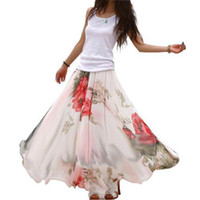 Casual Dresses U Neck Ankle Length S5Q Ladys Full Circle Big Hem Elegant Boho Lotus Leaf Summer Chiffon Maxi Long Dress AAABSW
