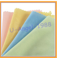 Wholesale Microfiber Cleaning Cloth Glasses Camera Lens DV DC LCD Screen for iPhone iPad