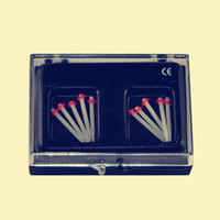 Wholesale New Red MM Dental Fiber Post Glass Set Refill Drill Thread Files