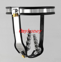 Female Chastiy Belt Stainless Steel Wholesale - new stainless steel female fully adjustable & lockable chastity devices belts with two plug for women anal plug vagina plug