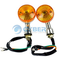 Wholesale Universal x Motorcycle Turn Signals Lights Indicators Chrome Turning Lights Lamps V Dropshipping TK0143