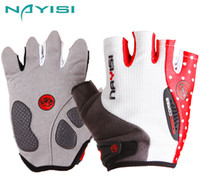 Wholesale nayisi Bicycle gloves Riding gloves promotion for Sports Cycling Bike Bicycle Silicone Half Finger