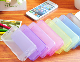 Wholesale TPU With Dustproof plug Ultra thin Window Clamshell Phone Protection Shell for iPhone5 S