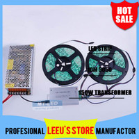 Wholesale DHL M LED Strip Waterproof RGB Warm White Cool White Key Aluminum Remote box A Transformer for Home Party Decoration