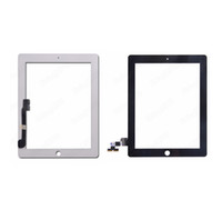 Wholesale 100 White Black Digitizer Touch Screen Pannel for new ipad and For iPad ipad ipad Glass Repair Part Replacement by free DHL EMS