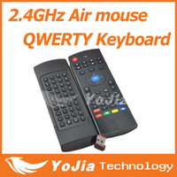 Wholesale 2 GHz Remote Controller Wireless in1 Air Mouse Fly Mouse QWERTY Keyboard GYRO Sensing Remote IR Learning for Android TV Computers