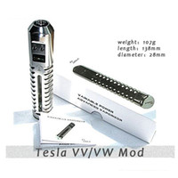 Wholesale NEWEST Tesla VV MOD beyond lavatube Variable Voltage Tesla Body Huge Vapor E cig use Battery waitingyou