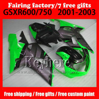 7 gifts Plastic Fairings kit for SUZUKI k1 2001 2002 2003 GS...