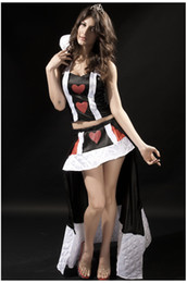 Wholesale Sexy Halloween Sleeveless Split Pirate Queen Cosplay Spades Red Heart Exotic Costume Game Uniform