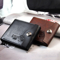 Wholesale 2014 fashion Zn buckle top purses wallet mens design Genuine Leather Coin Bag cards holders wallets for men