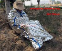 Wholesale New Reusable Waterproof Emergency Foil Sleeping Bag thermal blanket Outdoor Survival Hiking Camping