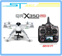 Wholesale 2014 New WALKERA QR X350 Pro GPS Drone CH Brushless UFO DEVO F7 Transmitter RC Helicopter quadcopter RTF For Gopro drop ship