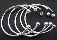 al por mayor la apertura de encantos-925 de plata de ley llenar mujeres abiertas brazalete 65MM 70MM tamaño aptos europeos granos encanto pulsera