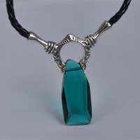Wholesale 100 Real Solid Sterling Silver DMC Devil May Cry Vergil Crystal Necklace