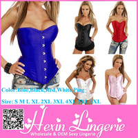 Women Bodysuit Bustiers & Corsets Free Shipping Blue Black Red Pink White S To 6XL Size Women Fashionable Corset Slimming Body Shaper LB4231