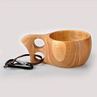 Wholesale outdoor Wooden cups travel cup Log kuksa outdoor handmade portable cup Outdoor sporting mug water cups
