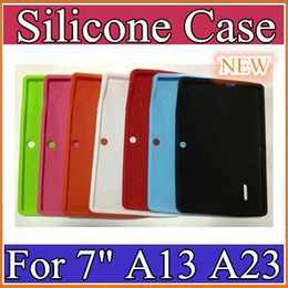 100PCS NEW Colorful Q88 Silicone Rubber Back Case for 7 inch Allwinner A13 Q88 Android Tablet PC PT07-1