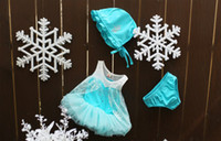 Wholesale Frozen Princess Elsa Swimwears girl Split swimsuit suit children swimwear s l