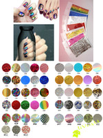 Decal 2D Plastic 100Packs (53Designs) Transfer Foil Nail Polish Stickers 9*6cm pack Free Shipping 4UNL15