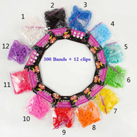 12 colors rainbow Loom Bands Rubber Bands Wrist Bracelet (30...