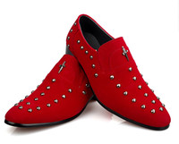 Wholesale Best sell Korea red rivet buckles cusp shoes dress shoes men s casual shoes groom wedding shoes