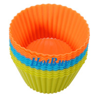 Wholesale Soft Silicone Round Cake Muffin Chocolate Cupcake Liner Baking Cup Mold cm okcbuy
