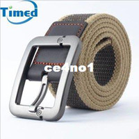 Wholesale Fashion Casual men s canvas belt pin buckle thickening gossip strap fabric belts