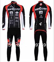 Wholesale Cube Black Thermal - 2015 Winter Cycling Gear CUBE Black Team Winter Thermal Fleece Long Sleeved Cycling Jersey  Cycling wear + Bib pants