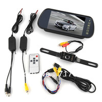 "Cheap New 7"" Car LCD Monitor Mirror + Wireless Reverse Car Rearview Backup Camera Kit"