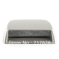 22 inch air vent covers - New Silver Universal Car decorative Air Flow Intake Scoop Turbo Bonnet Vent Cover hood