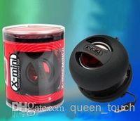 Wholesale 50 Brand New in Original Cylinder Box Music X MINI XMINI II Portable Hamburger Capsule Mini Speaker Speakers for iPhone S