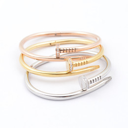 Wholesale Korean lady with big money nail jewelry bracelet diamond K gold plated titanium steel bracelet