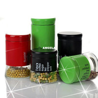 Wholesale New arrival glass storage jar storage bottle candy food milk cans coffee canister set