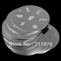 Nail Art Stamping Machine Nail Art Equipment  Set of 25pcs Nail Art Image Plates Metal Stamping Polish Mixed designs Kit Set Free shipping