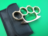 Multi Tools knuckle dusters - Top quality GOLDED knuckle duster KNUCKLES Belt Buckle with nylon sheath Best gift for friend