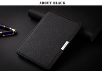 Folding Folio Case amazon - Original Slim Leather Smart Cover Case For New Amazon Kindle Paperwhite inch ebook Top quality Screen Protector Touch Stylus