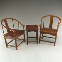 Wood Antique Imitation Engraving Chinese Ancient furniture Model - Desk & Chiar