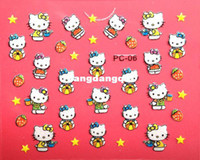 Wholesale newest Hot sell nail sticker d new style hello kitty d nail sticker