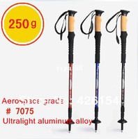 Wholesale 2014 New Trekking Hiking Stick Poles alpenstock Adjustable telescoping Anti Shock Nordic Walking mountaineering cane cm Cork